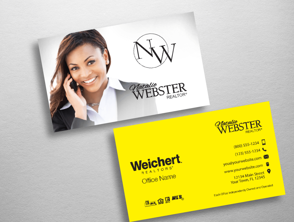 Top 10 weichert realtors business card designs for Top 10 business cards