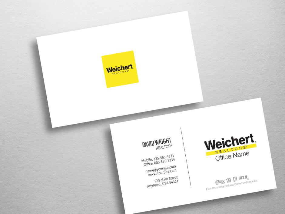 Weichert business cards free shipping design templates weichert realtors business card wch247 reheart Images